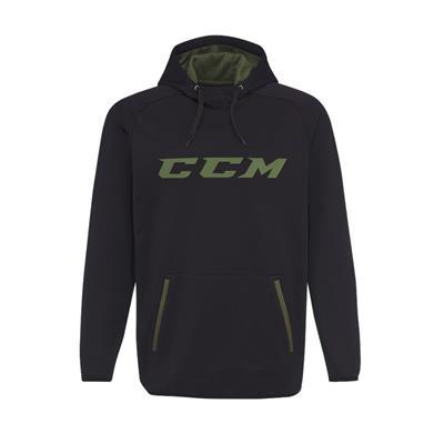 Black (CCM Grit Tech Pullover Hoody - Mens)