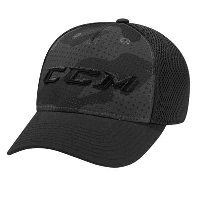 Black (CCM Grit Structured Meshback Cap - Youth)