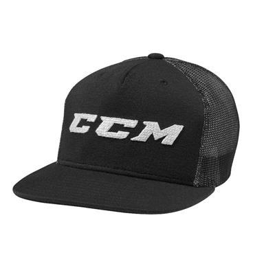 Black (CCM Grit Flat Brim Snapback Cap - Youth)