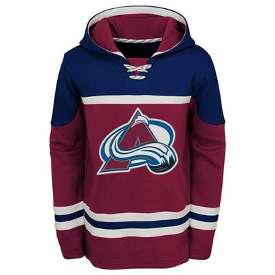 Front (Adidas Colorado Avalanche Asset Pullover Hoodie - Youth)