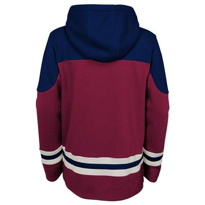 Back (Adidas Colorado Avalanche Asset Pullover Hoodie - Youth)