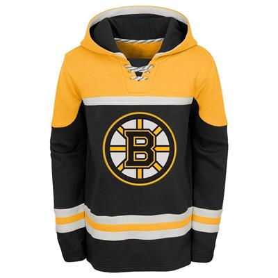 Front (Adidas Boston Bruins Asset Pullover Hoodie - Youth)
