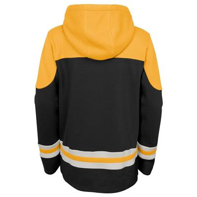 Back (Adidas Boston Bruins Asset Pullover Hoodie - Youth)