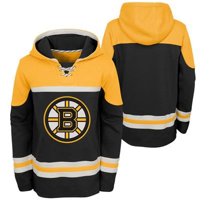 (Adidas Boston Bruins Asset Pullover Hoodie - Youth)