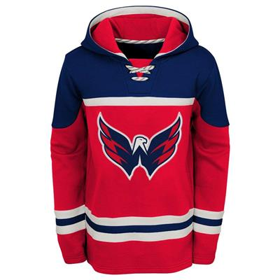 Front (Adidas Washington Capitals Asset Pullover Hoodie - Youth)