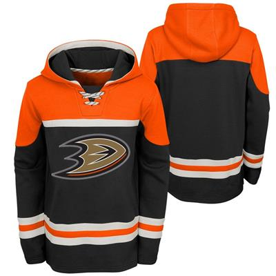 (Adidas Anaheim Ducks Asset Pullover Hoodie - Youth)
