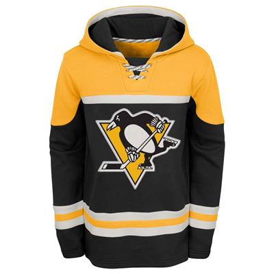 Front (Adidas Pittsburgh Penguins Asset Pullover Hoodie - Youth)