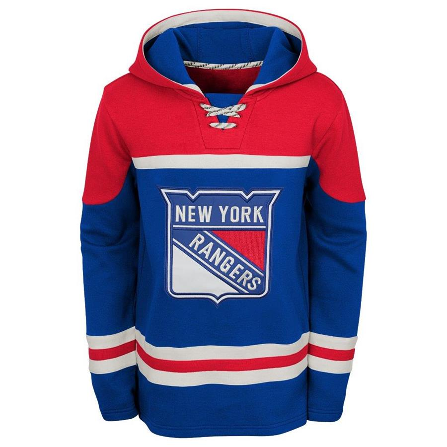 Front (Adidas New York Rangers Asset Pullover Hoodie - Youth) f0dcb7774