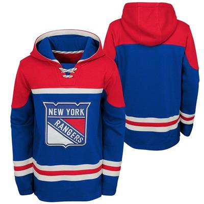 (Adidas New York Rangers Asset Pullover Hoodie - Youth)