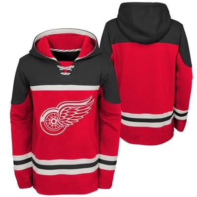 (Adidas Detroit Red Wings Asset Pullover Hoodie - Youth)