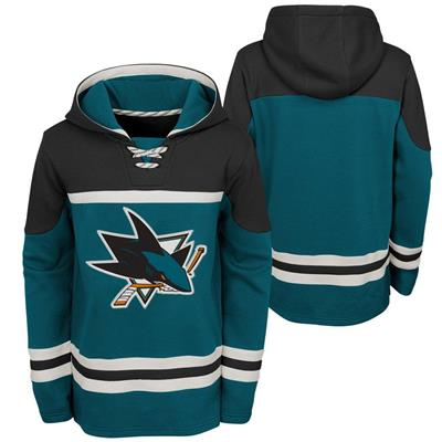 (Adidas San Jose Sharks Asset Pullover Hoodie - Youth)
