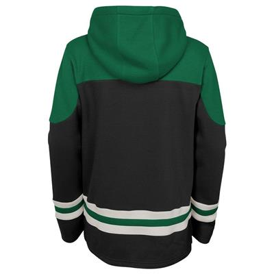Back (Adidas Dallas Stars Asset Pullover Hoodie - Youth)