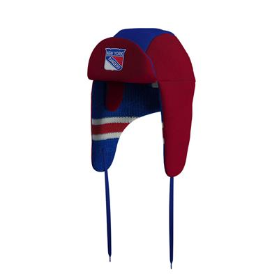 (Hockey Sockey New York Rangers Reversible Trapper Hat - Adult)