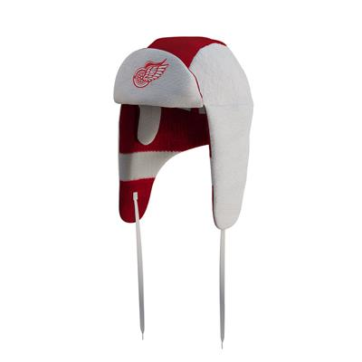 (Hockey Sockey Detroit Red Wings Reversible Trapper Hat - Adult)