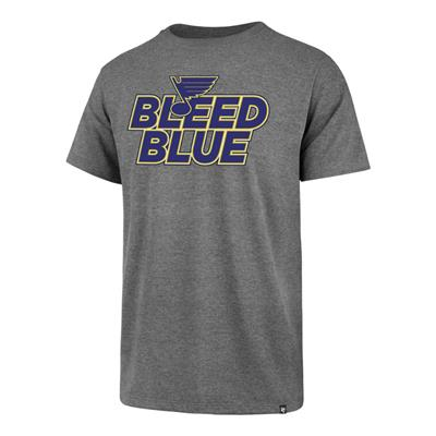 Front (47 Brand St. Louis Blues Club Tee - Heather Grey - Adult)