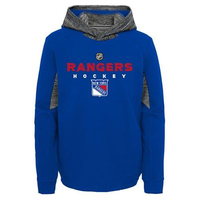 Front (Adidas Hyper Physical Hoodie - New York Rangers - Youth)