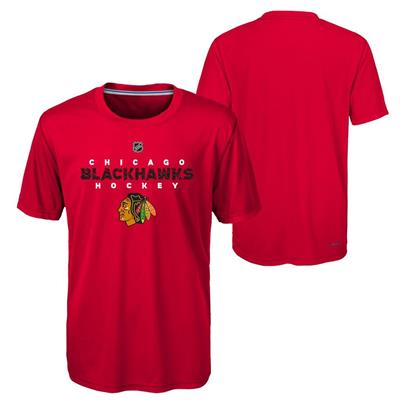 Chicago Blackhawks (Adidas Chicago Blackhawks Avalanche Short Sleeve Tee Shirt - Youth)
