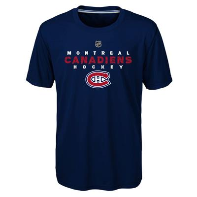 Front (Adidas Montreal Canadiens Avalanche Short Sleeve Tee Shirt - Youth)