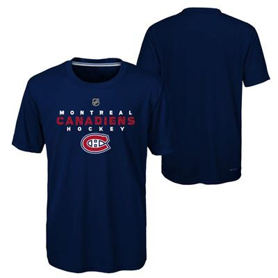 Montreal Canadiens (Adidas Montreal Canadiens Avalanche Short Sleeve Tee Shirt - Youth)