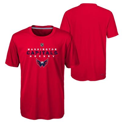 Washington Capitals (Adidas Washington Capitals Avalanche Short Sleeve Tee Shirt - Youth)
