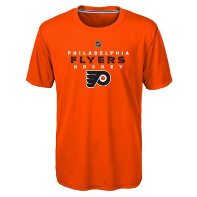 Front (Adidas Philadelphia Flyers Avalanche Short Sleeve Tee Shirt - Youth)