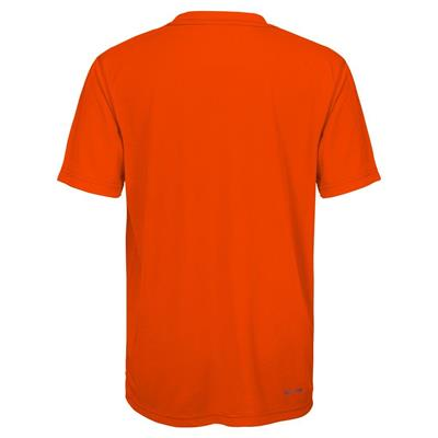 Back (Adidas Philadelphia Flyers Avalanche Short Sleeve Tee Shirt - Youth)
