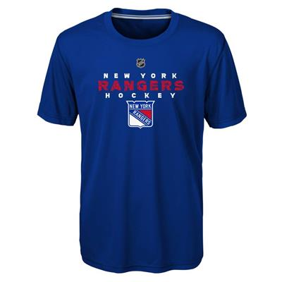 Front (Adidas New York Rangers Avalanche Short Sleeve Tee Shirt - Youth)