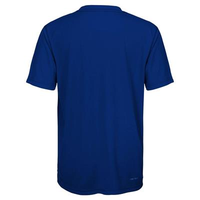 Back (Adidas New York Rangers Avalanche Short Sleeve Tee Shirt - Youth)