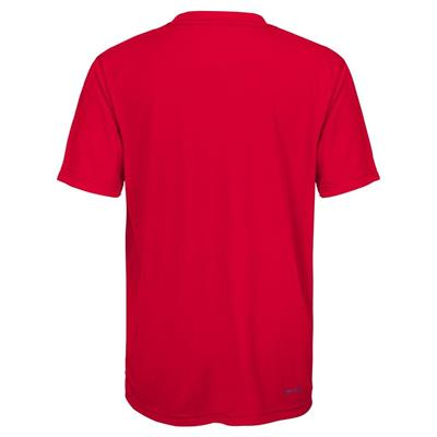 Back (Adidas Detroit Red Wings Avalanche Short Sleeve Tee Shirt - Youth)