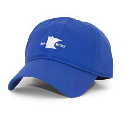 (Sauce Hockey Minnesota Hockey Dad Hat - Blue - Adult)