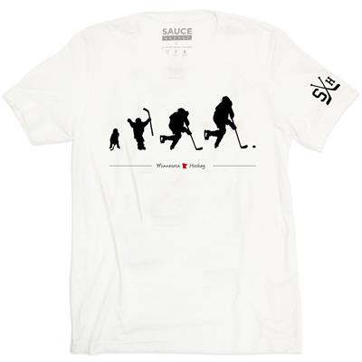(Sauce Hockey Minnesota Evolution Tee Shirt - Adult)