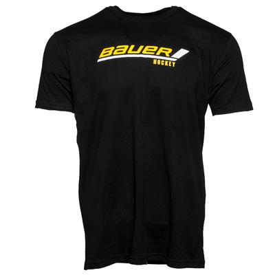 Black (Bauer Stick Logo Tee - Adult)