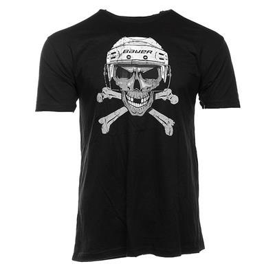 Black (Bauer Skull Short Sleeve Tee - Adult)
