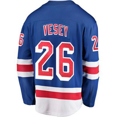 Back (Fanatics New York Rangers Replica Jersey - Jimmy Vesey - Adult)