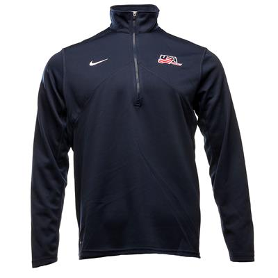 (Nike DriFit USA Hockey 1/4 Zip - Adult)