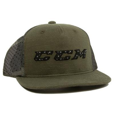 Army Green (CCM Grit Flat Brim Snapback Cap - Youth)