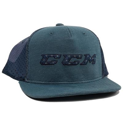 Blue (CCM Grit Flat Brim Snapback Cap - Youth)