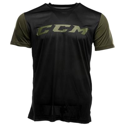 Black (CCM Grit Tech Top Exclusive Shirt - Mens)