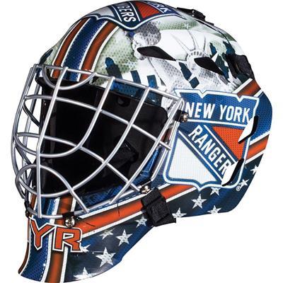 New York Rangers (Franklin GFM1500 NHL Decal Street Hockey Goalie Mask)