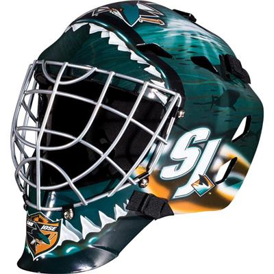 San Jose Sharks (Franklin GFM1500 NHL Decal Street Hockey Goalie Mask)