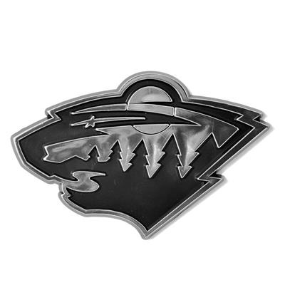 (Chrome Auto Emblem - Minnesota Wild)