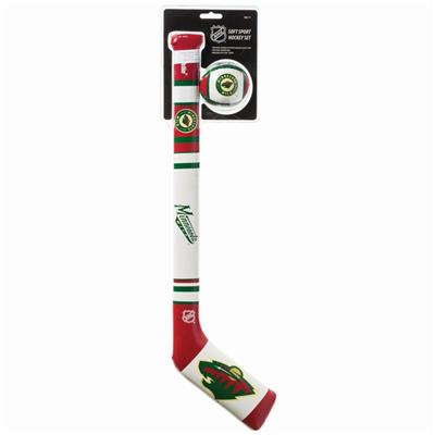(Franklin NHL Team Soft Sport Mini Hockey Set - Minnesota Wild)