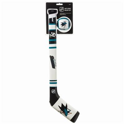 (Franklin NHL Team Soft Sport Mini Hockey Set - San Jose Sharks)
