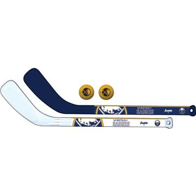 (Franklin NHL Mini Hockey Stick Set - Buffalo Sabres)