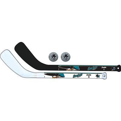 (Franklin NHL Mini Hockey Stick Set - San Jose Sharks)