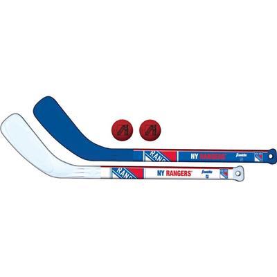(Franklin NHL Mini Hockey Stick Set - New York Rangers)