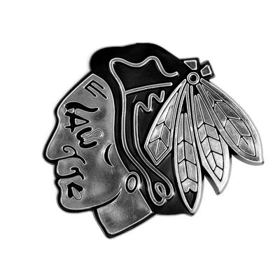 (Chrome Auto Emblem - Chicago Blackhawks)