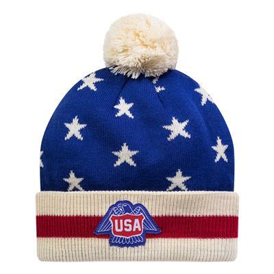 (USA Hockey 1976 Knit Pom Hat - Adult)