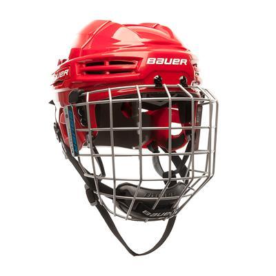 Red (Bauer S18 IMS 5.0 Hockey Helmet Combo)