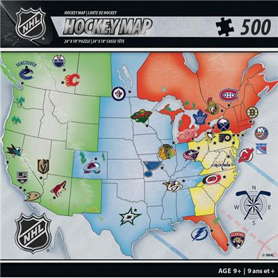 (NHL Map Puzzle)